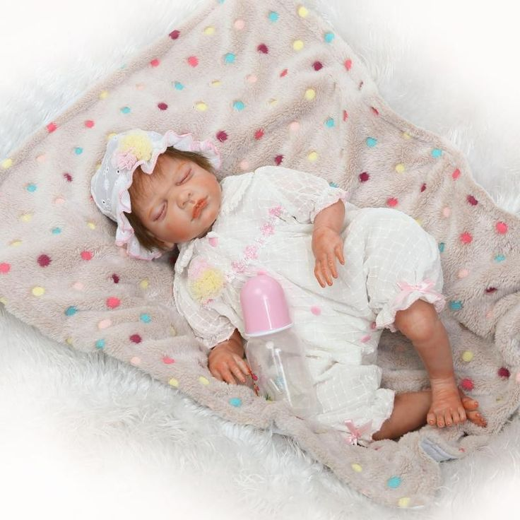 """Pursue 20""""/50 cm Sleep Realistic Reborn Silicone Baby Dolls for Sale Hair Rooted Lifelike Newborn Baby Doll Kids Girls XMAS Gift #Affiliate"""