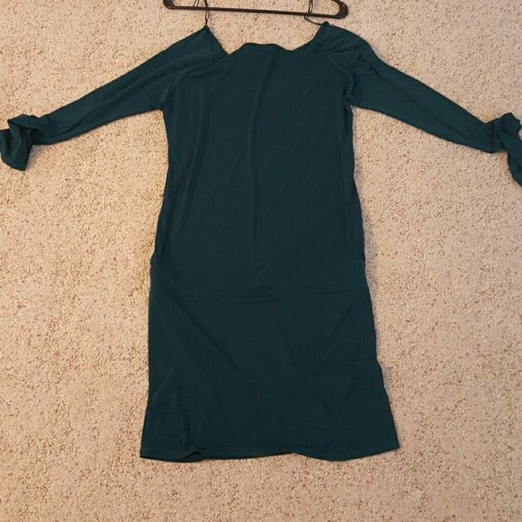 VS hunter green long sleeve dress VS size medium hunter green long sleeve dress, cute with a pair a leggings and boots.  Pictures do not do justice, very cute dress. Moda International Dresses