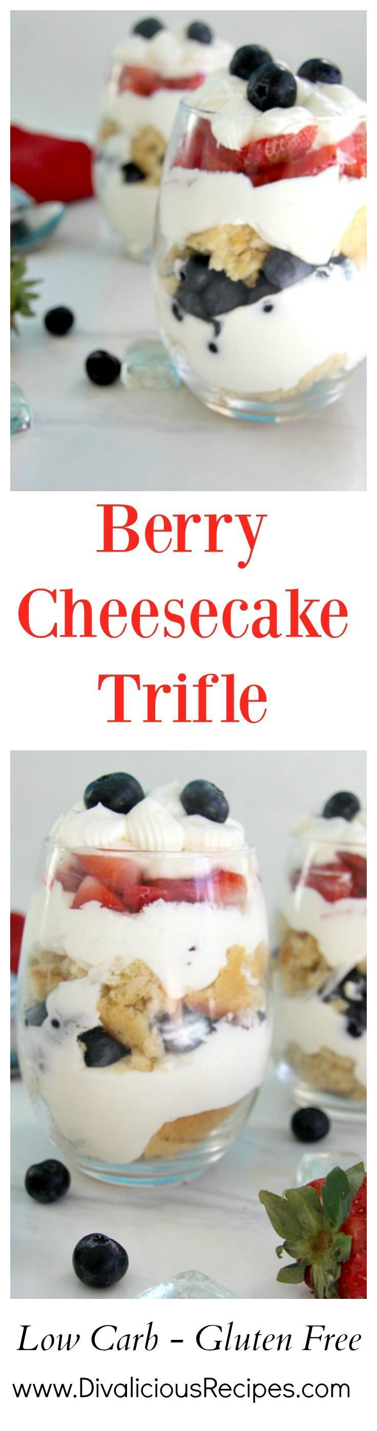 A simple low carb and gluten free dessert made with berries cheesecake and coconut blon s