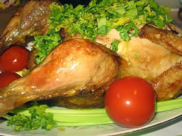 Мои любимые рецепты: Курица в майонезе, запечённая в духовке целиком