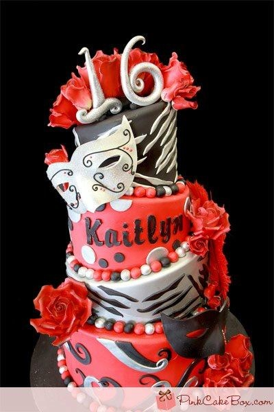 Best 25 Masquerade Party Cake Ideas On Pinterest