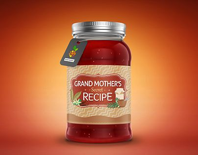 "Logo and Branding for Packaged Spices and Food, inspired by Grandmother's Recipes. Check out the complete work on Behance portfolio: ""Grandmother's Secret Recipe : Spices & Foods"" http://be.net/gallery/34001342/Grandmothers-Secret-Recipe-Spices-Foods"