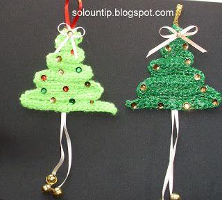 Manualidades navideñas -adornos fáciles a crochet | Solountip.com