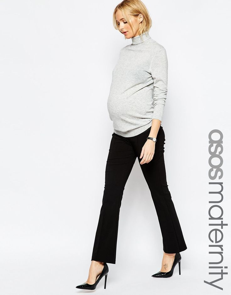 ASOS Maternity Work Wear Flare Pant With Stretch