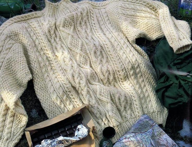 modele tricot irlandais femme