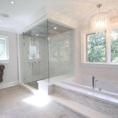 Photo: What are your favorite/least favorite features of this modern bathroom? Source: http://www.houzz.com/photos/348513/Master-Bath-modern-bathroom-toronto #bathroom #shower #homedecor #homedesign #interiordesign