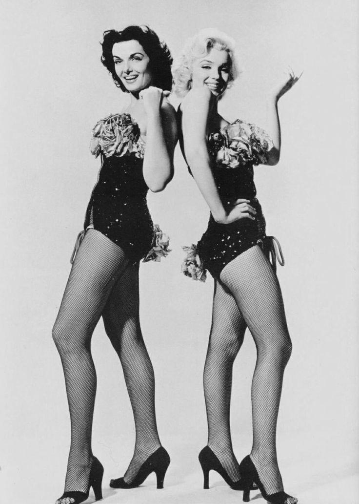 Marilyn Monroe and Jane Russell in Gentlemen Prefer Blondes, 1953.