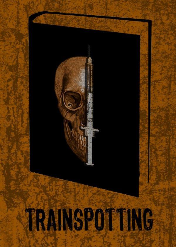Trainspotting Poster by Emily Pigou  #book #cover #poster #skull #novel #homedecor #design #displate