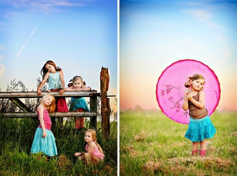 Love this shot for a group of children!