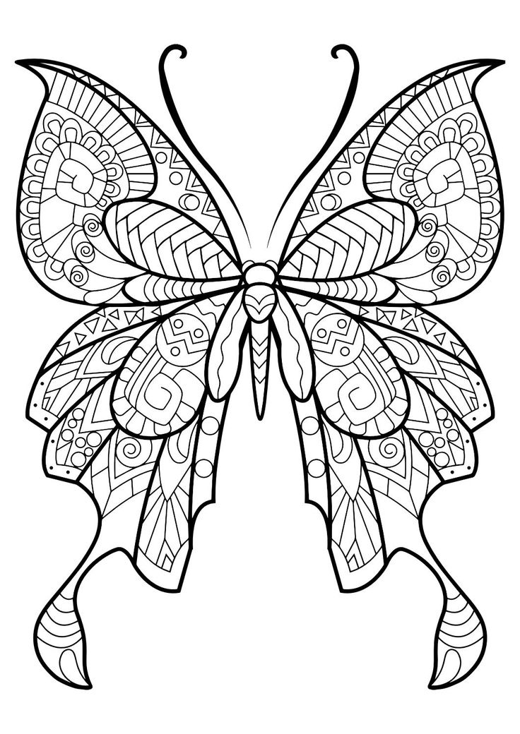 adult butterfly coloring book - Pretty Pictures To Color