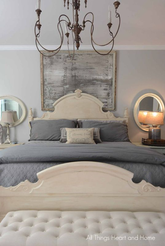 Ever since we got it 27 years ago, I've struggled with decorating over the bed. You heard right…this is a decorating dilemma that's TWENTY-SEVEN YEARS in the making!