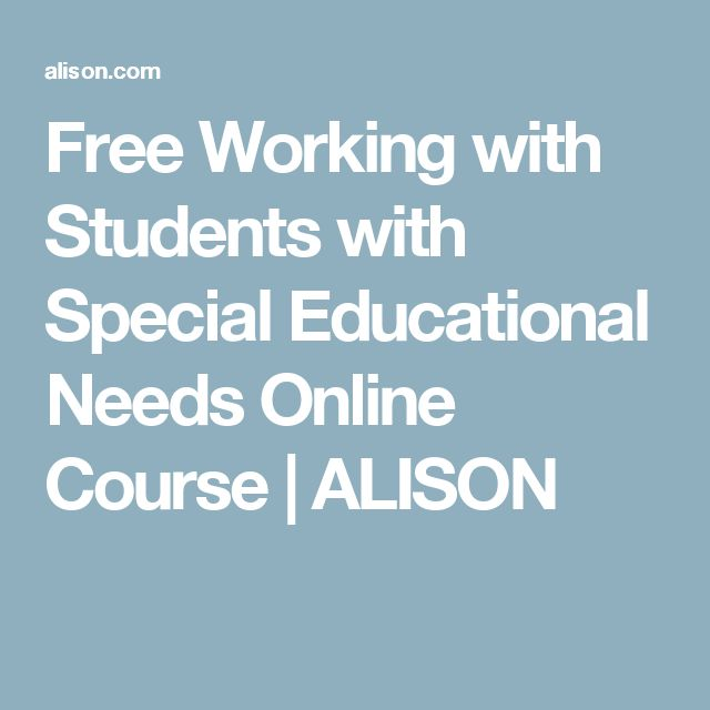 Free Working with Students with Special Educational Needs Online Course | ALISON