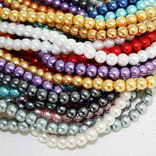 Caliente venta 6 mm bola redonda grano de la perla de los granos flojos cristal blanco negro rojo verde Indigo mixta para la joyería que hace el arte DIY PS-BBD011(China (Mainland))