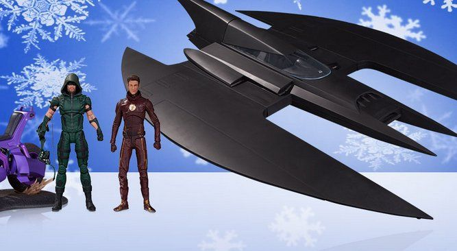 Win a $489.95 DC Collectibles Batman pack! : The Animated Series Batwing; DC Icons Batgirl of Burnside with Motorcycle action figure set; DC Collectibles DCTV The Flash & Arrow action figure 2-pack; DC Collectibles Clayface action figure deluxe set;...