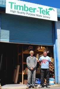 Timber-Tek employed Robert Roskilly on a construction Apprenticeship to help with the manufacture of bespoke joinery.