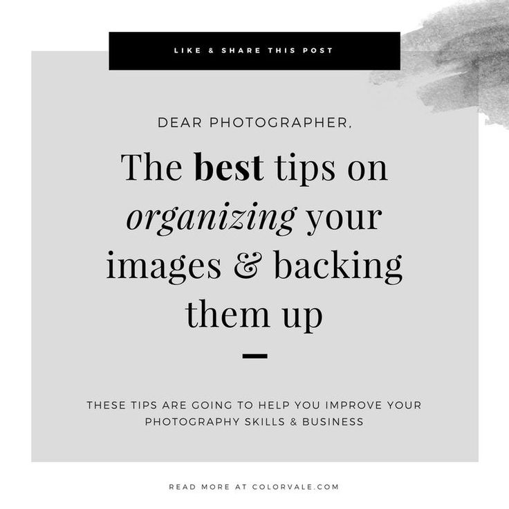 Best tips on organizing your images & backing them up