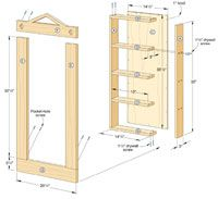How to build recessed shelving