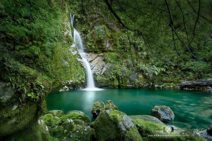 Landscape photo print of Dorothy Falls waterfall in New Zealand