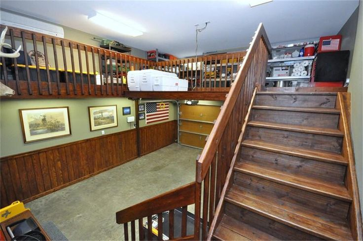 Amazing Garage Storage Add A Staircase And Cat Walk Above
