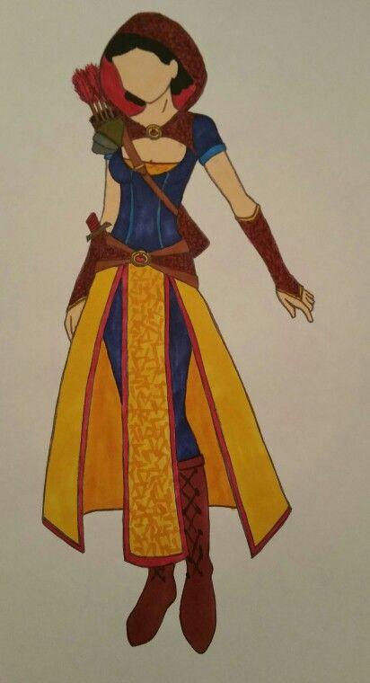 Snow White Warrior Cosplay Sketch No.1