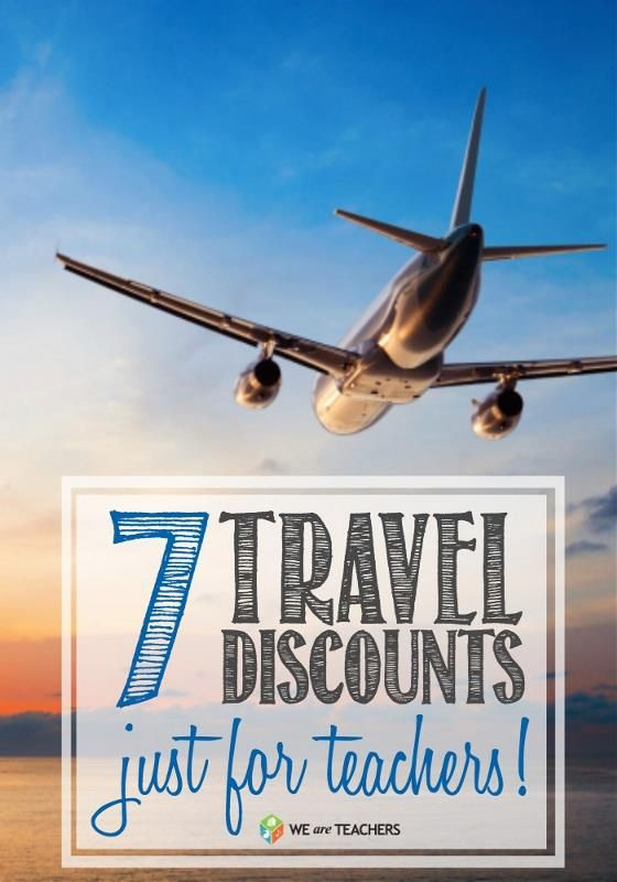 Travel Discounts for Teachers... Good to know now that I'm thisclose to being certified & finally like to travel!