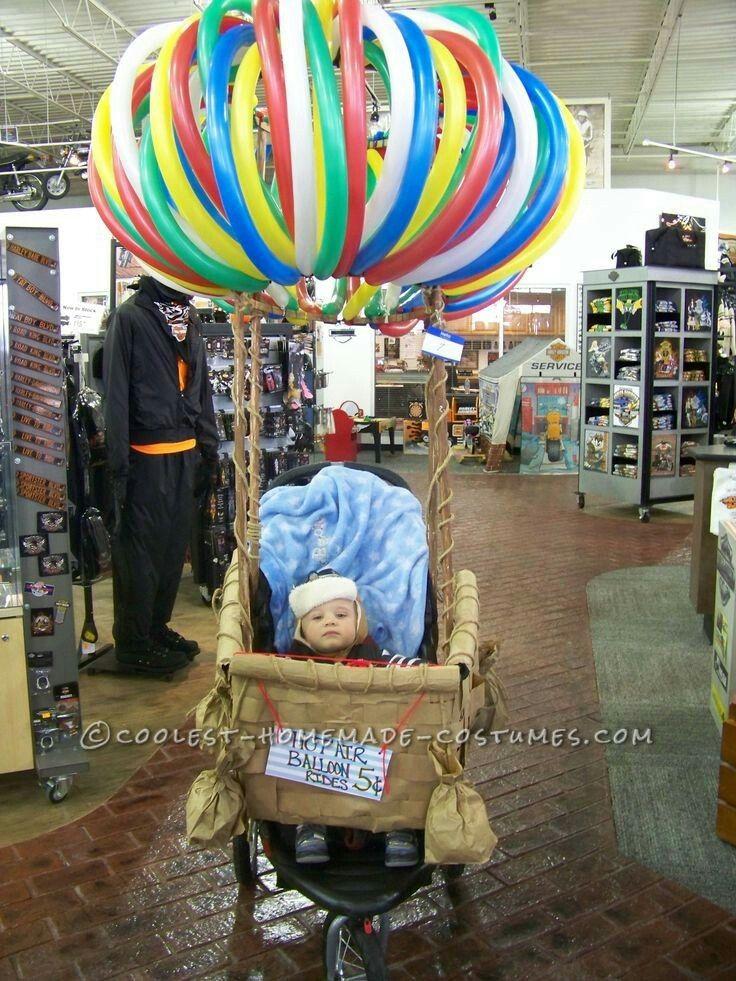 LOVE THIS!!! Hot air balloon wheelchair costume! Easy an dun to do!