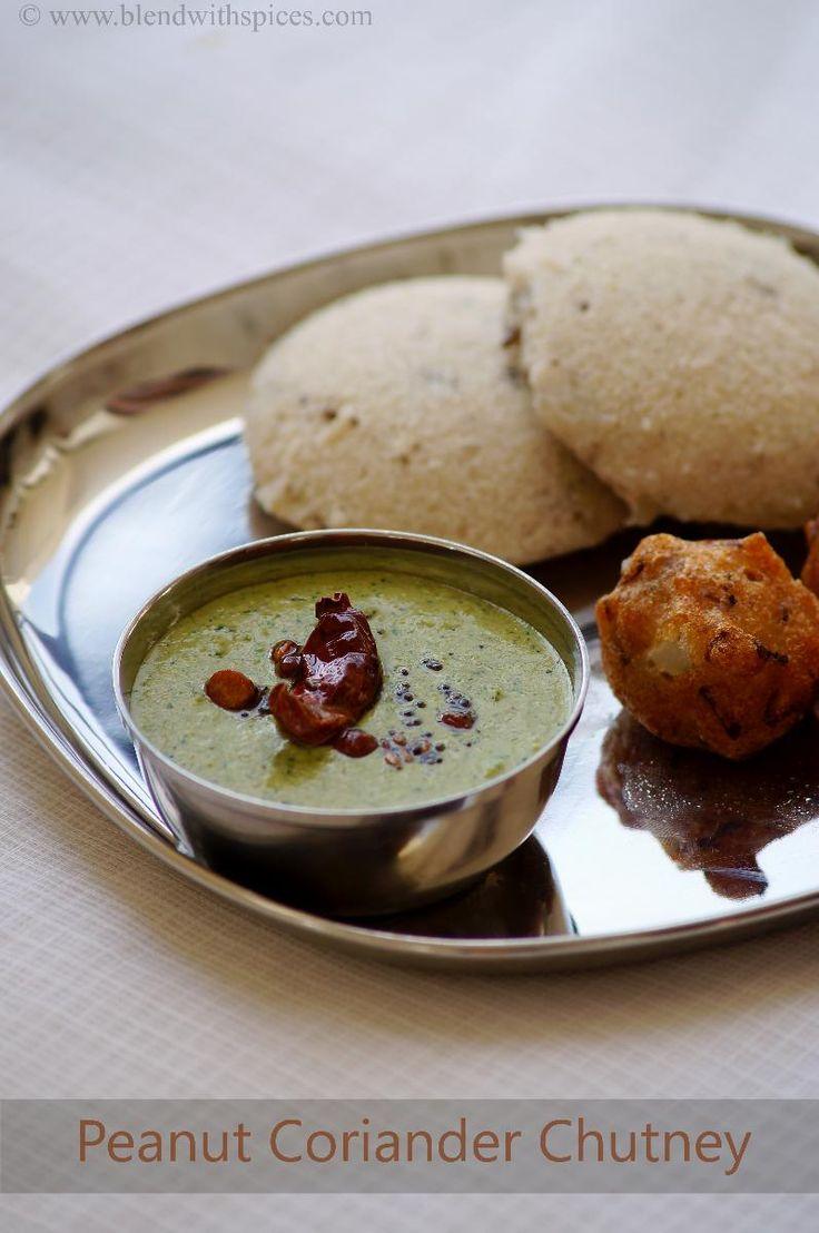 Indian Cuisine: Verusenaga Kothimeera Pachadi - Peanut Coriander C...