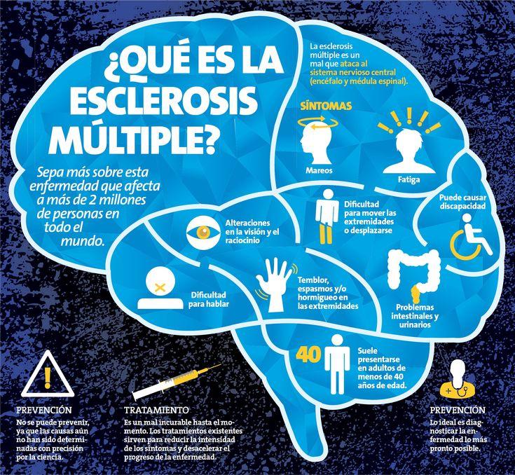 La esclerosis múltiple es un mal que ataca al sistema nervioso central (encéfalo y médula espinal).