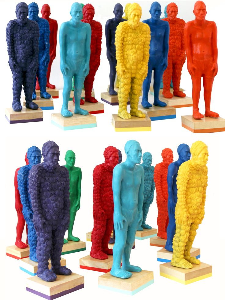 Alejandra Zermeño. All those beautiful boys. 2013. Little pieces made by resin and colors. 54x15x15cm each.