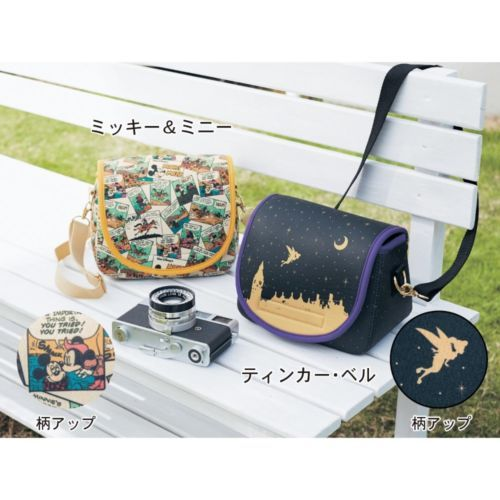 Disney-Mickey-Minnie-Tinker-Bell-Camera-Bag-with-Lens-Cover-Canon-Nikon-Japan