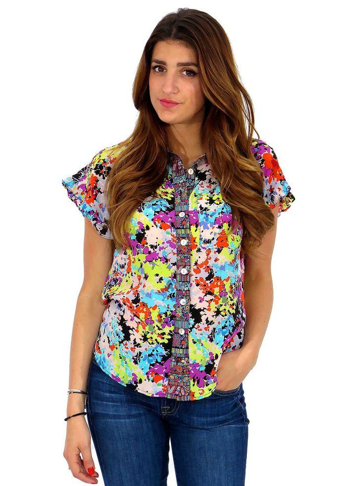 Nanette Lepore | Printed Floral Button-Down Blouse www.sabrinascloset.com