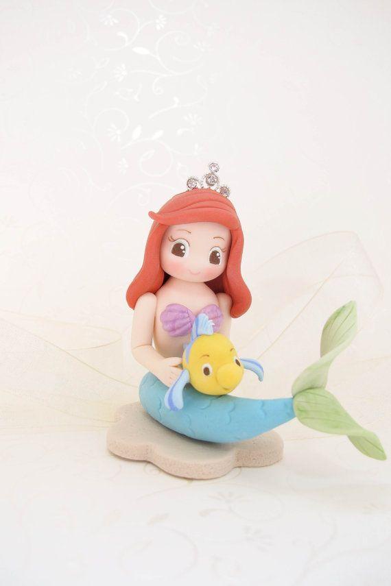 Handmade Little Mermaid Figurine For Birthday Cake Topper