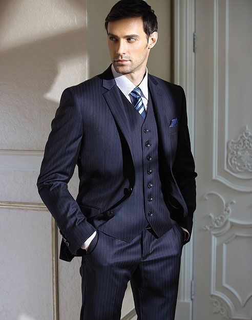 The perfect business three piece suit, tailor made by Germanicos Bespoke Tailors