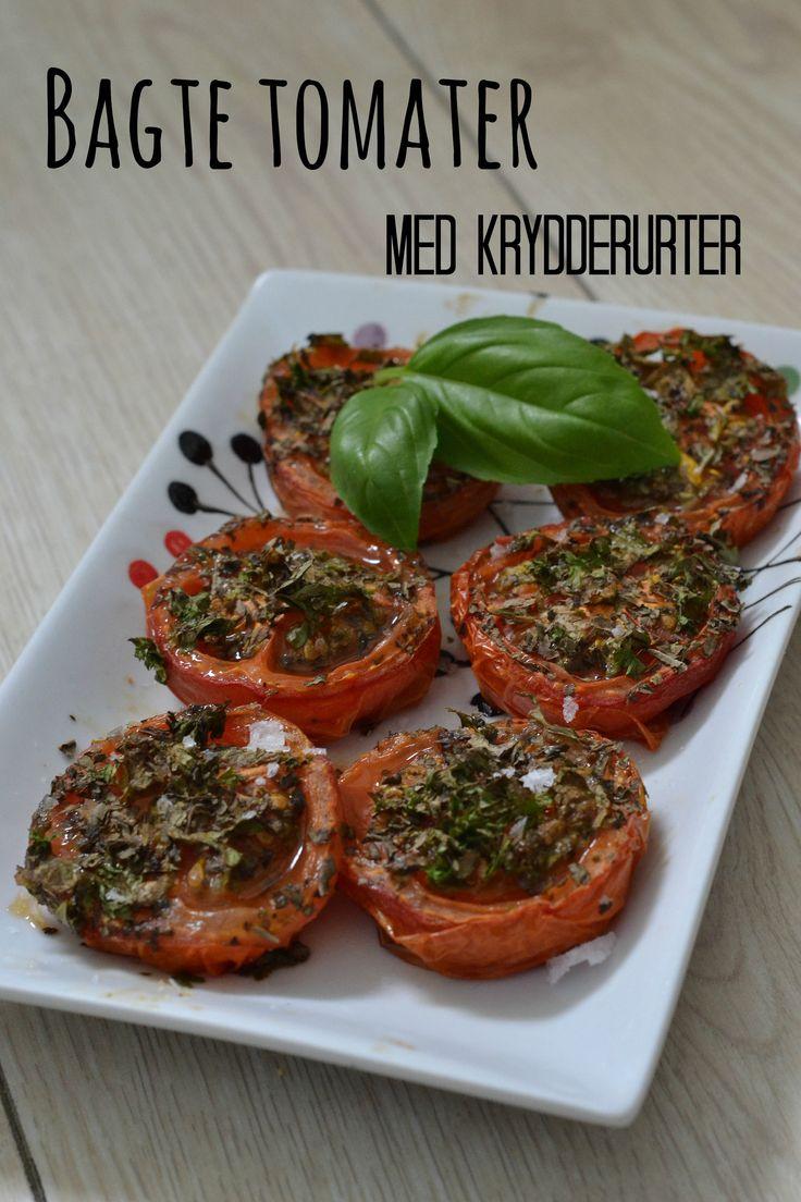 Bagte tomater med krydderurter