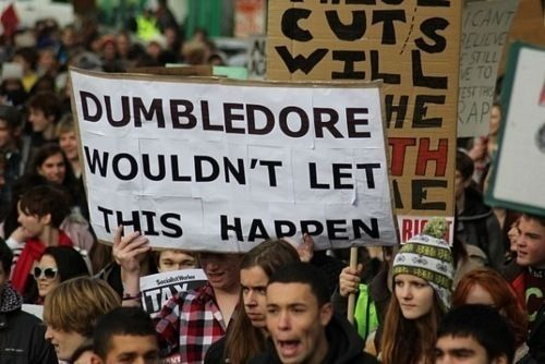 Best protest sign ever. It's not even necessary to know what's being protested ...