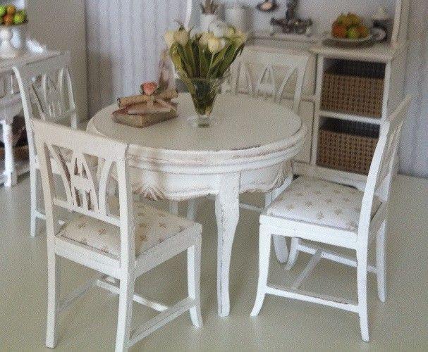 Minimi´s köksstolar 4st + bord - Fransk Lilja - Minimis Smått & Sånt