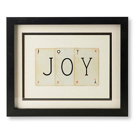 VINTAGE PLAYING CARDS Joy frame