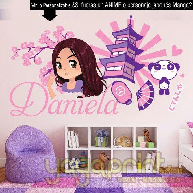 Mejores 21 im genes de vinilos chicas girl wall decals for Stickers habitacion nina