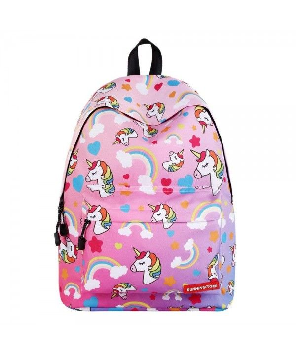 f928fc2de046 Lightweight 3D Unicorn School Backpack Shoulder Bag Bookbag for ...