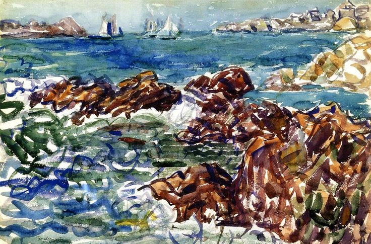 Maurice Prendergast  water-color painting Title<Rocky Cove>