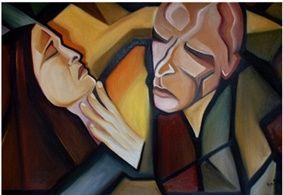 o sonho (Pintura),  90x60 cm por Ana Balegas óleo s/tela