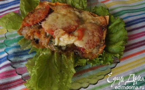 Овощная лазанья из лаваша с лечо и баклажаном | Кулинарные рецепты от «Едим дома!»