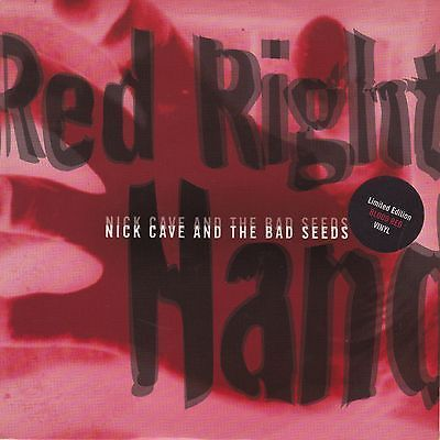 """NICK CAVE - RED RIGHT HAND, LIMITED EDITION RED VINYL 7"""" SINGLE, MUTE 172"""
