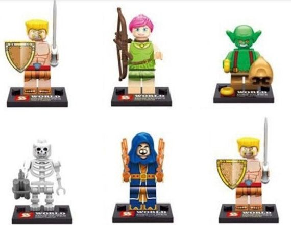 Lote de 6 Figuras Lego Clash of Clans Customized