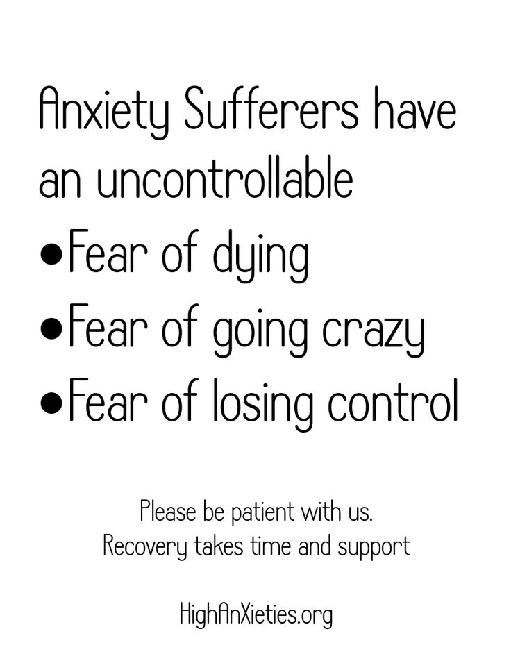 Please support those with anxiety disorders. It's a real illness and we need support.