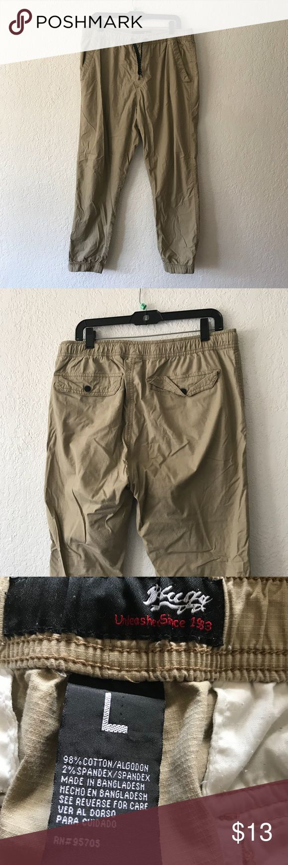 Men's khaki jogger pants large Good condition joggers, just need a good iron ;) Pants Sweatpants & Joggers