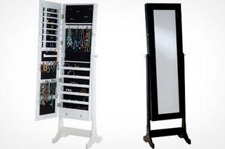 Full-Length Mirrored Jewellery Armoire - amazing idea!