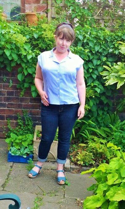 blue gingham Maria Denmark Edith blouse