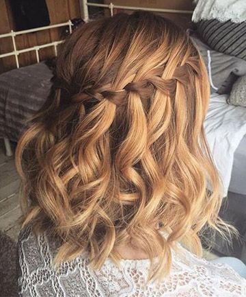 Image result for gorgeous waterfall braids for short hair