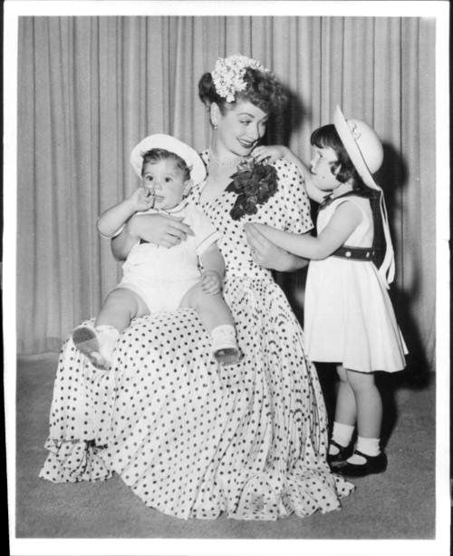 Lucy and Children - 1950's - Lucie Arnaz and Desi Arnaz Jr.